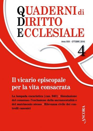 Quaderni di diritto ecclesiale 4/2016